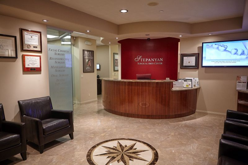 surgical center reception area