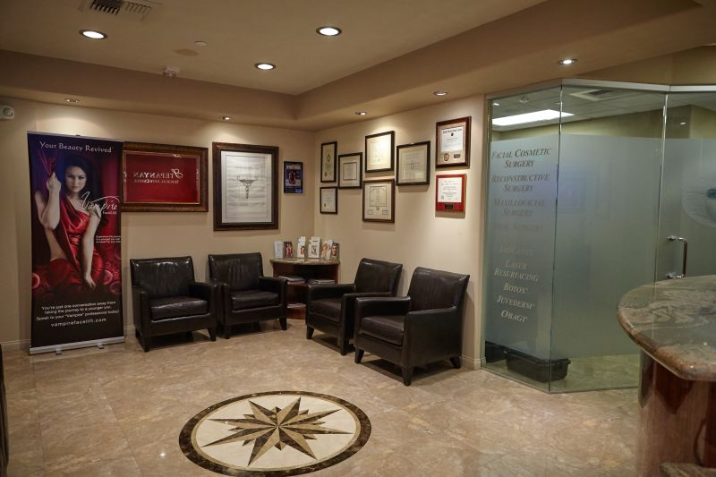 luxurious surgery center waiting room